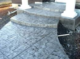 Stamped concrete patio with stairs Retaining Wall Stamped Concrete Steps Ashlar Slate Radius Junction City Premier Charcoal Release Stamp Front Porch Wood Bridge Timaylen Photography Stamped Concrete Steps Salthubco