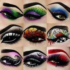 makeup artist tal peleg posted these amazing eye makeup designs based on the two