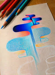 I Ve Been Trying To Explore Abstract Ideas In My Free Time It S Colored Drawing Paper L