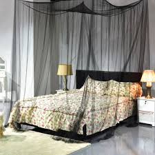 King Size Canopy Bed with Curtains Luxury 4 Corner Post Bed Canopy ...