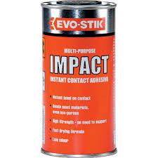 evo stik impact adhesive ml tin multi purpose instant impact adhesive impact adhesive 500ml tin 348301 multi purpose instant contact adhesive