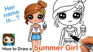 How to Draw a <b>Cute Girl</b> | Summer Art Series #7 - YouTube