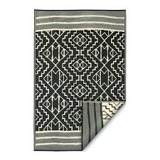 fab habitat indoor outdoor rug black cancun multicolor