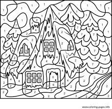Take a break and have some fun with this collection of free, printable paint by numbers. Color By Number Adults House Free Coloring Pages Printable