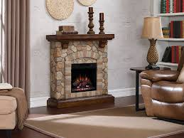 tequesta stone electric fireplace mantel package in old world brown 18wm40070 c296