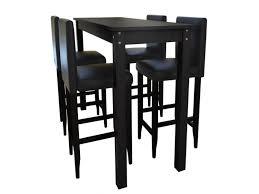 Lot De 4 Tabourets De Bar Avec Table Haute Helloshop26 1202004