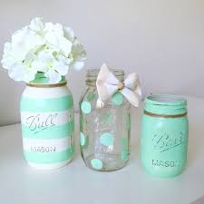 Painted Mason Jars Dos And Donts Of Baby Shower Etiquette Mint Paint Jars Decor