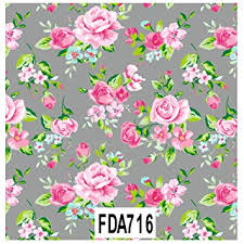 Flower Printed Paper Decopatch Decoupage Printed Paper Fda716 Grey Background Floral