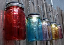 multi color outdoor solar jar design. Solar Lighting Ideas For Mason Jars Multi Color Outdoor Jar Design
