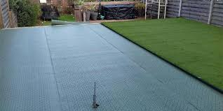lay artificial grass on the decking