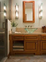 vanity mirrors with lights for bathroom. modern bathroom vanity mirror with lights on the side over glass sink and wooden mirrors for