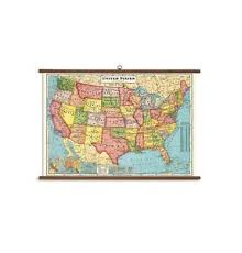 Details About Cavallini Papers United States Map Vintage School Chart