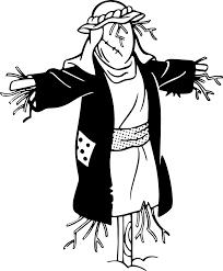 scarecrow clip art black and white. Modren Art Scarecrow 3 With Clip Art Black And White A