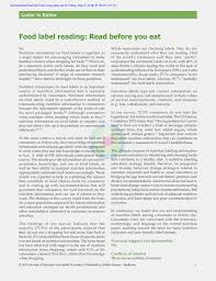 the big reveal what s behind nutrition labels answer key pdf consumers use of nutritional labels a review of research