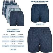 Gildan Boxer Brief Size Chart Gildan Mens Woven Boxer Underwear Multipack Medium Assorted Navy 883096378372 Ebay