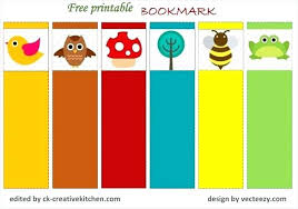 Colorful Bookmark Templates Format Free Download Sample