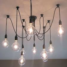 light bulb cord modern glass pendant with lights vintage lamp hanging fixture black colorful socket decoration light bulb socket