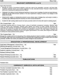 Director Of Marketing Resume Sample & Template