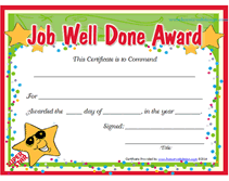 Award Templates Free Printable Job Well Done Award Certificates Recognition Event