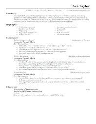 Accounts Payable Resume Summary Accounts Payable Clerk Resume Summary Account For Accountant