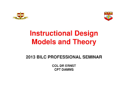 Instructional Design Theory And Models Ppt Ppt Instructional Design Models And Theory 2013 Bilc
