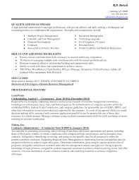doc resume executive assistant com resume professional summary examples administrative assistant