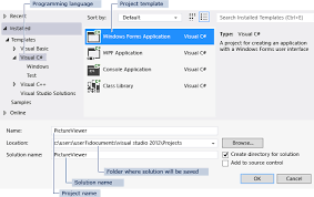 Step 1: Create A Windows Forms Application Project