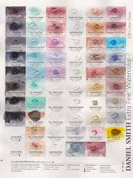 Daniel Smith Watercolor Dot Chart I Have Been Cleaning Up My Studio And I Found A Number Of