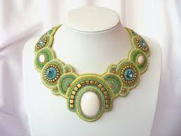 Bead Embroidery <b>necklace</b> spring <b>breeze</b> beaded by ...