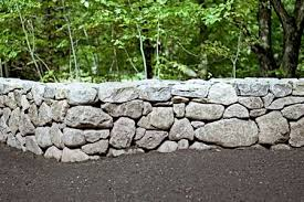 how to build a stone wall building a