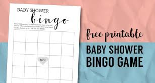 Baby Shower Bingo Printable Cards Template - Paper Trail Design