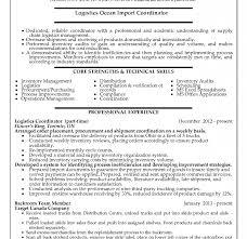 Logistics Coordinator Resume Cia3india Com
