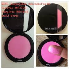 make up for ever sculpting blush satin indian pink 8