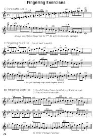 Baritone Scale Finger Chart Saxophone Lesson 8