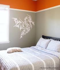 Orange And Grey Bedroom Boys Bedroom Makeover