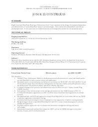 Net Developer Resume Examples Sample Software Samples Junior Interesting Net Developer Resume