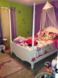purple and green girls bedroom
