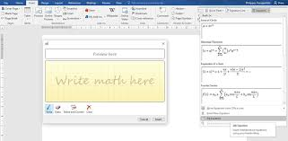 the procedure of inserting an equation in a word doent is very simple all you have to know is how to write an equation