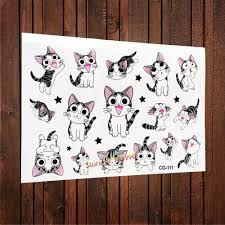 симпатичные Cheese Cat временные наклейки татуировки Chi S Sweet Home Cat дети Flash вставить