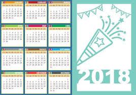 design template of desk calendar 2018