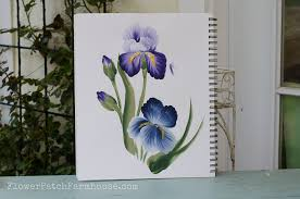 how to paint an iris one easy stroke at a time free painting tutorial with