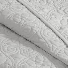 Madison Park Quebec King Quilted Bedspread Set - Gray - 8331221 | HSN & ... Madison Park Quebec King Quilted Bedspread Set - Gray Adamdwight.com