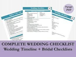 bridal checklist bridal checklist pdf wedding timeline checklist printable etsy