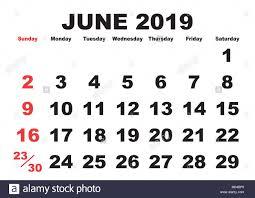 printable calendar month 2019 calendar june month vector printable calendar monthly stock