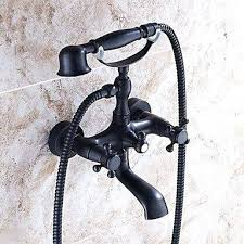 wall mount bathtub faucet with hand shower wall mount two handles bathtub faucet with hand shower
