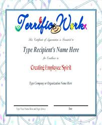 Sample Awards Certificate Best Employee Award Certificate Recognition Template Sample