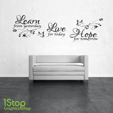 learn live hope wall art quote sticker  on wall art stickers quotes next with learn live hope wall art quote sticker lounge bedroom love decal