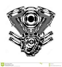 motorcycle clipart motorcycle engine pencil and in color