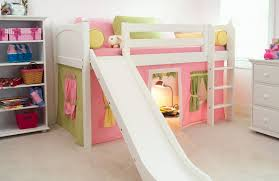 bunk bed with slide.  With Low Loft With Slide And Play Tent Shop This Bed Throughout Bunk Bed With Slide