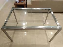 ikea glivarp extendable table clear glass innaloo stirling area image 2 1 of 2